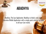 Online Law Bookstore & Law Lectures Video | Abadhya