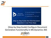 [Step-by-Step Guide] Configure Document Generation Functionality in MS