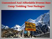 Customized And Affordable Everest Base Camp Trekking Tour Packages