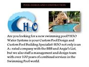 POOL DESIGN AND CONSTRUCTION