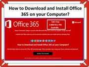 How to Download and Install Office 365 on your Computer