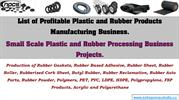 List of Profitable Plastic and Rubber Products Manufacturing Business