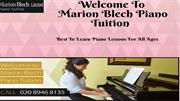 Piano Tuition South West London