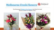Meaning of Mother's Day  Flowers - Melbourne Fresh Flowers