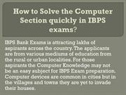 IBPS Bank exam preparation: