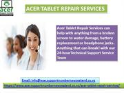 Acer Tablet Repair Technical Support Phone Number- 098015144