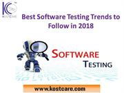 Best Software Testing Trends to Follow in 2018