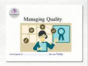 Sample Power Point Presentation On Managing Quality
