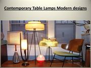 Contemporary Table Lamps Modern designs