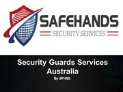 Security Guards Services & Companies | SFHSS