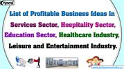 List of Profitable Business Ideas in Services Sector,...