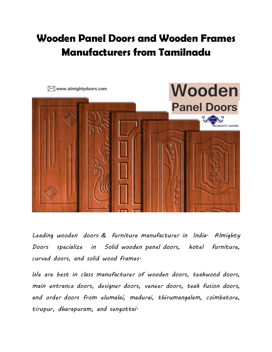 Wooden Panel Doors And Frames Manufacturers In Tamilnadu Cable Diagram Http Wwwpoweredtemplatecom Powerpointdiagrams Related Presentations
