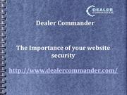 The Importance of your website security | Dealer Commander