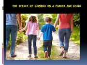 The effect of divorce on a parent and child