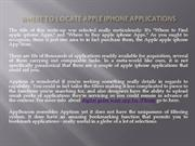 Where to Locate apple iphone Applications
