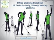 Office Cleaning Checklist Daily, Weekly, Monthly Cleaning