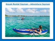 Kayak rental Grand Cayman