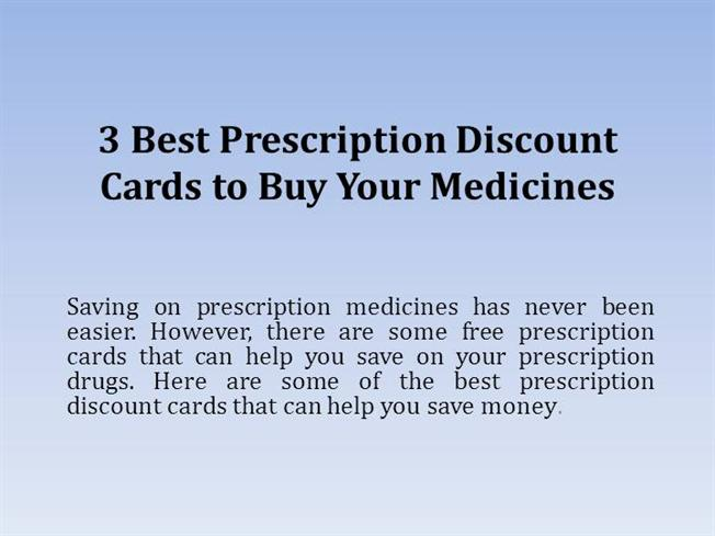 3 best prescription discount cards to buy your medicines authorstream - Best Prescription Discount Card