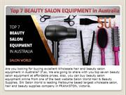 Top 7 BEAUTY SALON EQUIPMENT in Australia