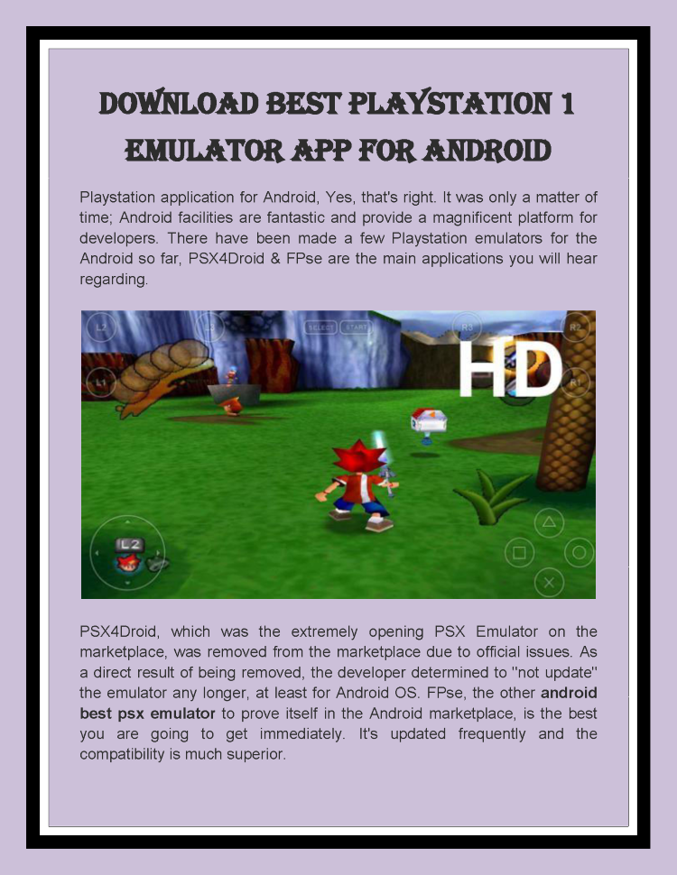 Download Best Playstation 1 Emulator App for Android |authorSTREAM