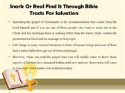 Snark Or Real Find It Through Bible Tracts For Salvation