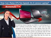 How Can I Raise CPU Fan Speeds On A Lenovo Laptop?