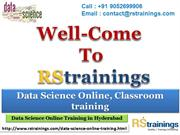 Data Science Online training is hyderabad