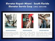 Elevator Repair Miami FL