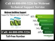 Dial 44-800-090-3226 for Webroot Tech Support Assistance
