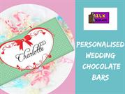 Personalised wedding chocolate bars