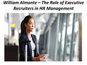 William Almonte – The Role of Executive Recruiters in HR Management