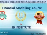 Best Financial Modelling Courses Training Delhi By IB Institute