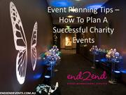 Event Planning Tips - How to plan a successful charity events
