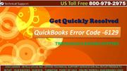 Get Resolved QuickBooks Error Code -6129 with Quickbooks Support