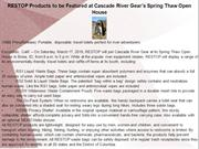RESTOP Products to be Featured at Cascade River Gear's Spring