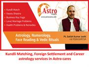Kundli Matching, Foreign Settlement and Career astrology services in A