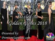 Sapphire Jewelry With Black Outfit Sizzled At Golden Globes 2018