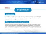 SynapseIndia jobs are for the dedicated and committed ones!