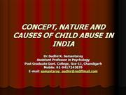 Concept of Child Abuse