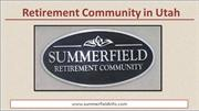 Retirement Community in Utah