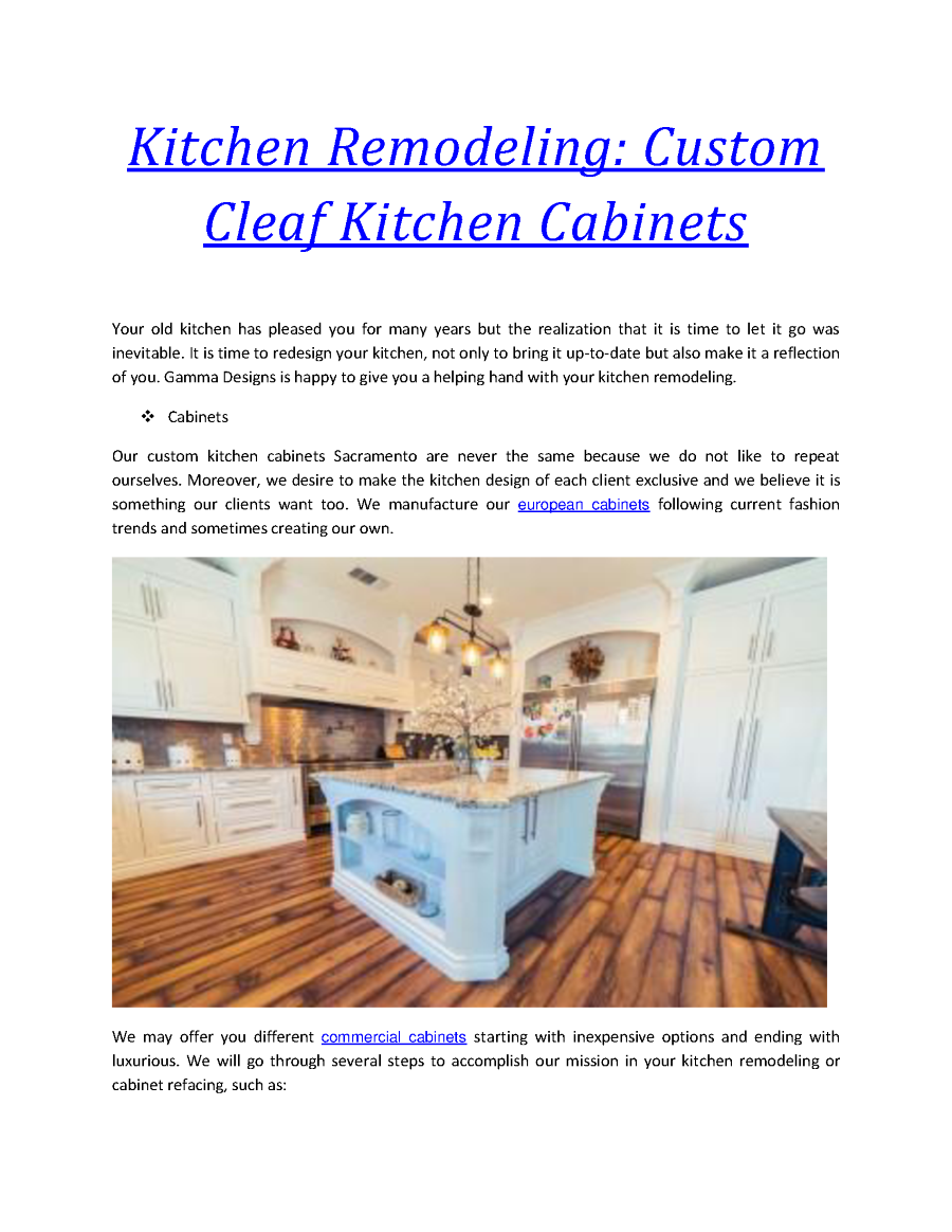 Gamma Cabinets | Kitchen Remodeling Sacramento |authorSTREAM