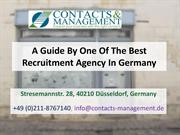 A Guide By One Of The Best Recruitment Agency In Germany