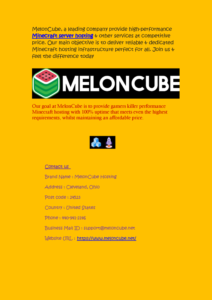 Get Free Minecraft Servers Hosting - Meloncube Net |authorSTREAM