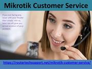 Mikrotik Router Tech Support