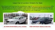 Used Car in London Ontario for Sale
