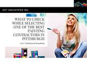 What to Check While Selecting One of the Best Painting Contractors in