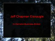Jeff Chapman Eisnaugle- In-Demand Business Broker