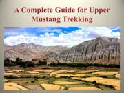 A Complete Guide for Upper Mustang Trekking