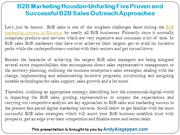 B2B Marketing Houston-Unfurling Five Proven B2B Sales Approach