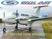 Sky Air Ambulance from Baramati to Delhi with Charter plane
